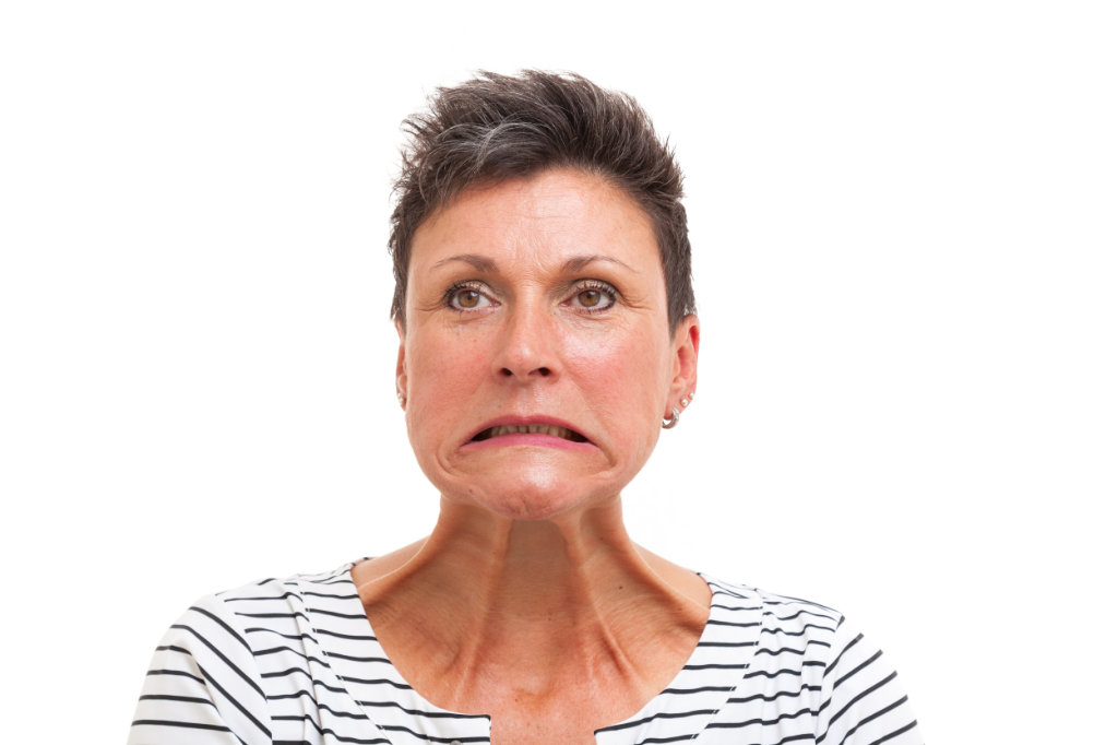 Botoxbehandeling hals vóór